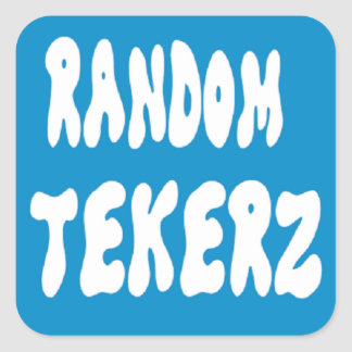 Random Tekerz Square Sticker