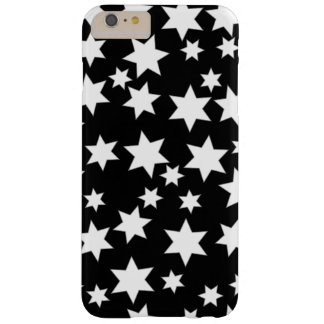 Random White Stars on Black Barely There iPhone 6 Plus Case