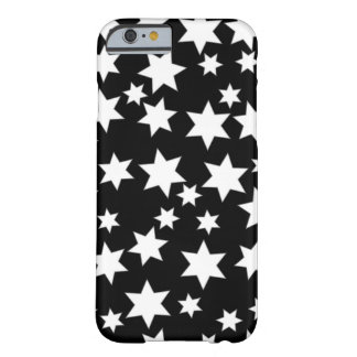 Random White Stars on Black Barely There iPhone 6 Case