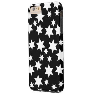 Random White Stars on Black Tough iPhone 6 Plus Case
