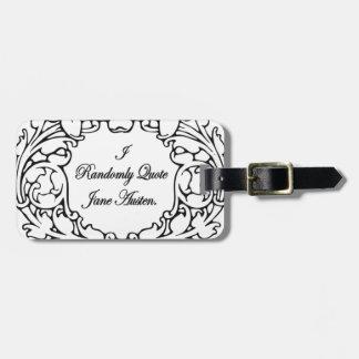 Randomly Quote Jane Austen Luggage Tag