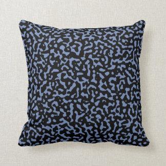 Randomness Blue and Black Cushion