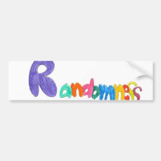 Randomness Random bumpersticker Bumper Sticker