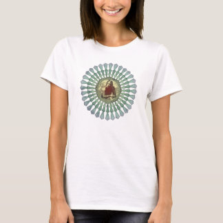 Randy Castillo Mandala Ladies' fitted tank top