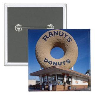 Randy's Doughnuts California Architecture 15 Cm Square Badge