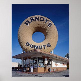 Randy's Doughnuts California Mid Century Modern Poster