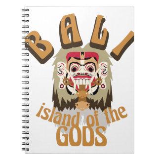 Rangda Bali Island Spiral Notebook