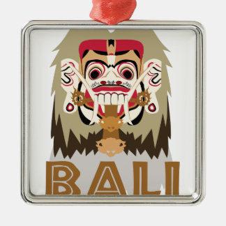 Rangda Bali Silver-Colored Square Decoration