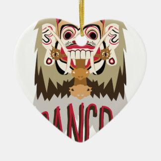 Rangda Ceramic Heart Decoration