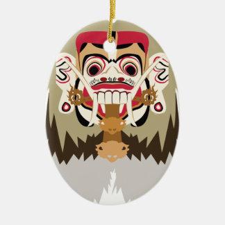 Rangda Ceramic Oval Decoration