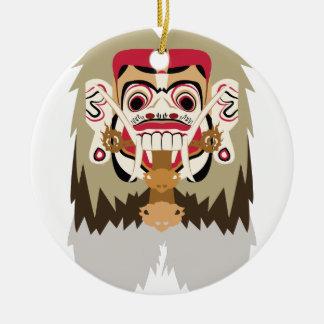 Rangda Round Ceramic Decoration