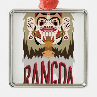 Rangda Silver-Colored Square Decoration