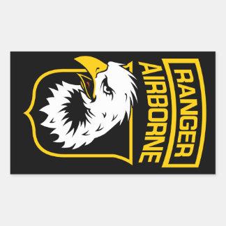 Ranger Airborne Eagle Patch Rectangular Sticker