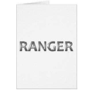 Ranger chrome greeting card