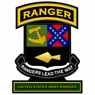 Ranger crest and tab 2 standing photo sculpture