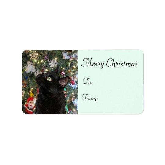 Ranger Kitty Christmas Gift Labels