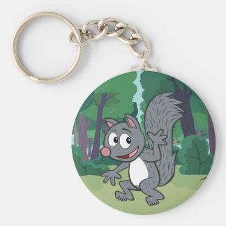 Ranger Rick | Gray Squirrel Waving Key Ring