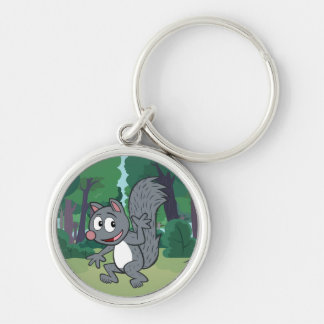 Ranger Rick | Gray Squirrel Waving Key Ring