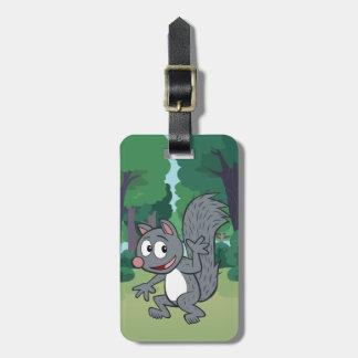 Ranger Rick | Gray Squirrel Waving Luggage Tag