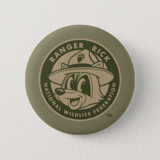 Ranger Rick | Ranger Rick Khaki Logo 6 Cm Round Badge