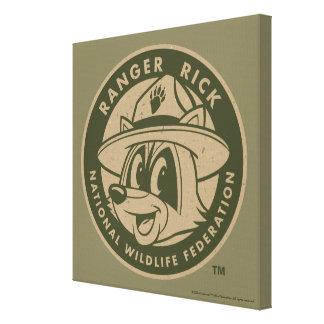 Ranger Rick | Ranger Rick Khaki Logo Canvas Print