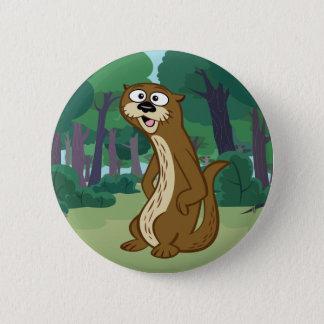 Ranger Rick | Reggie Otter 6 Cm Round Badge
