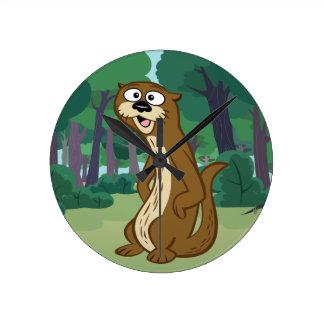 Ranger Rick | Reggie Otter Round Clock