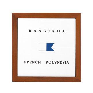 Rangiroa French Polynesia Alpha Dive Flag Pencil/Pen Holder