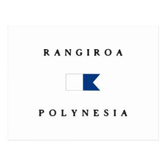 Rangiroa Polynesia Alpha Dive Flag Post Card