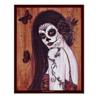 Ranita Day of the dead poster print by Renee