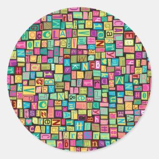 Ransom Note Round Sticker