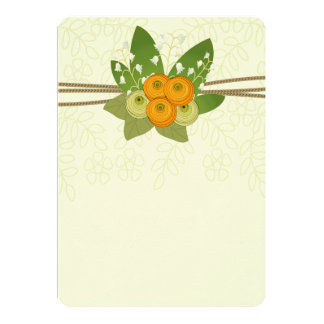 Ranunculus  and Lily of the Valley bouquet Card