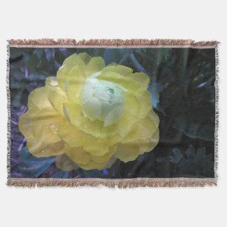 Ranunculus Flower Photography Throw Blanket