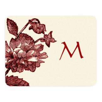 Ranunculus Rose Burgundy Modern Wedding Invite