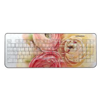 Ranunculus warm colors wireless keyboard