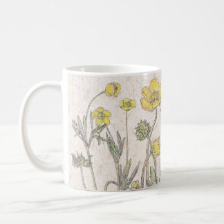 Ranunculus Wildflower Flowers Meadow Mug