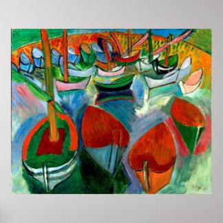 Raoul-Dufy-Boats at Martigues  1907 Poster