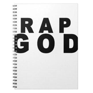 Rap God Shirt M.png Notebook