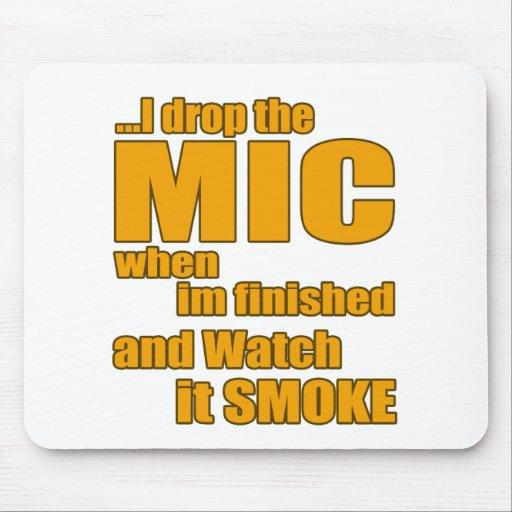 Rap music t shirt mousepads