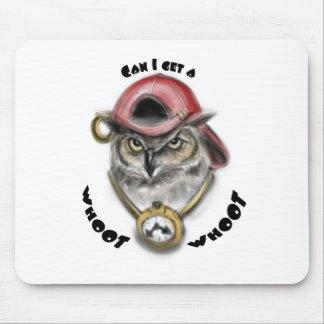 Rap Owl Mouse Pads