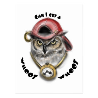 Rap Owl Postcard