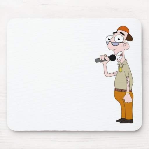 Rap star mouse pads