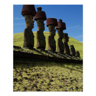 Rapa Nui artifacts, Easter Island Poster