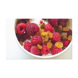 Rapberry Berry Breakfast Canvas Photography Food