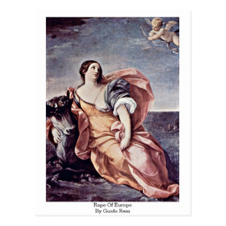 Rape Of Europe By Guido Reni Postcards