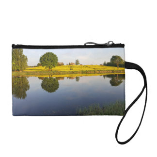 Rapeseed field coin purse