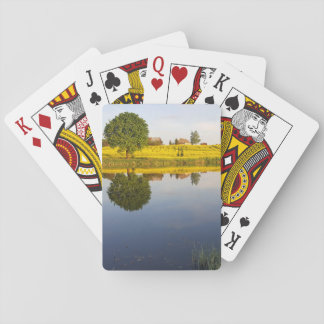 Rapeseed field playing cards