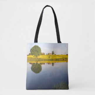 Rapeseed field tote bag