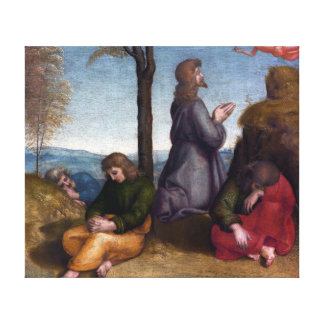 Raphaël Agony in the Garden Canvas Print