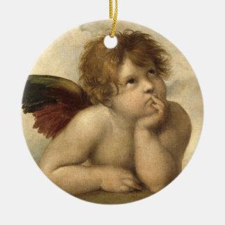 Raphael Angel 1 Round Ceramic Decoration